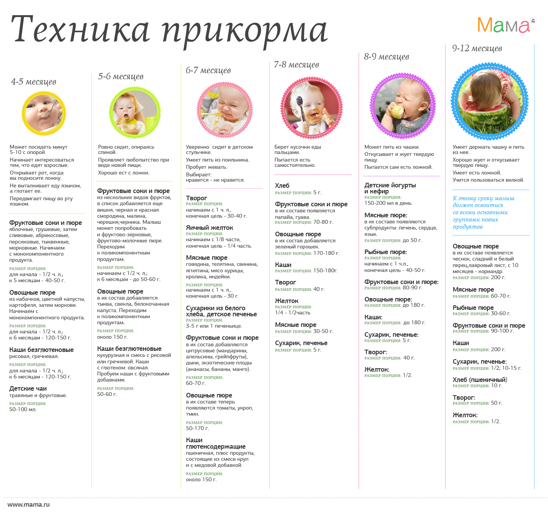 прикорм для детей 6 месяцев