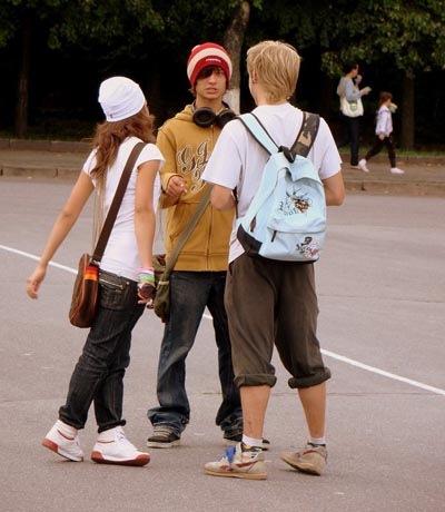 Секс подростки на улице
